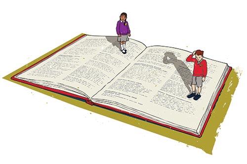 Children on book