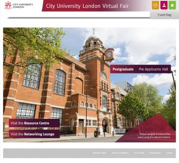 Postgraduate Virtual Fair homepage