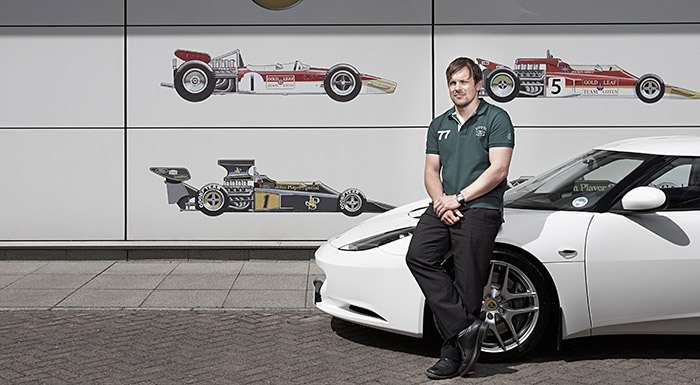 City student Sean Canty on placement at Lotus