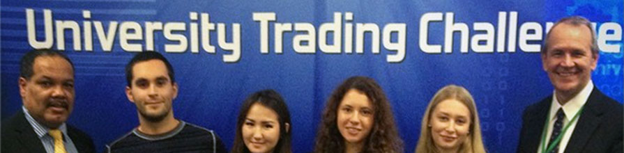 Staff and students at the University Trading Challenge