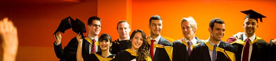 Group shot of students at graduation