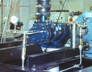 Two phase process lubricated expander on test rig