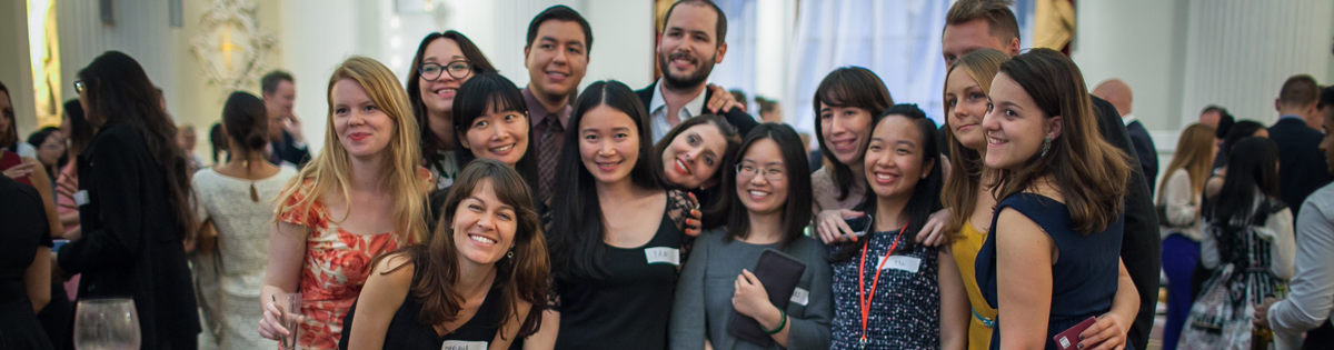 Group of international students at a City event