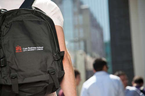Cass student with rucksack