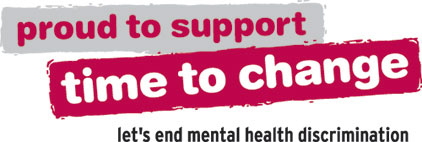 Proud to support Time to Change. Let's end mental health discriminisation.