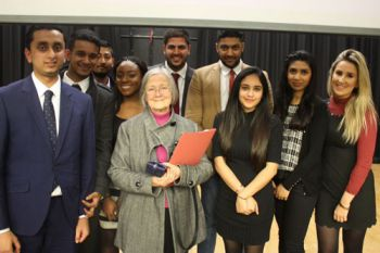 Baroness Hale with City Law Society students