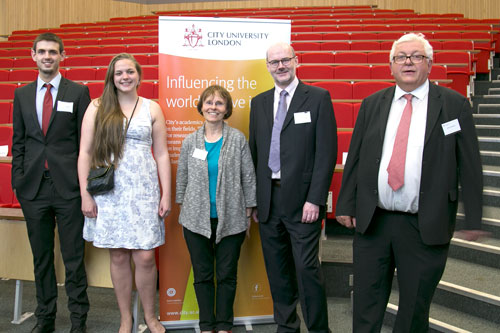 William Whelehan, Anna Whelehan, Dr Rosemarie Hayhow, Norbert Lieckfeldt and Martin Whelehan at the Roberta Williams memorial lecture