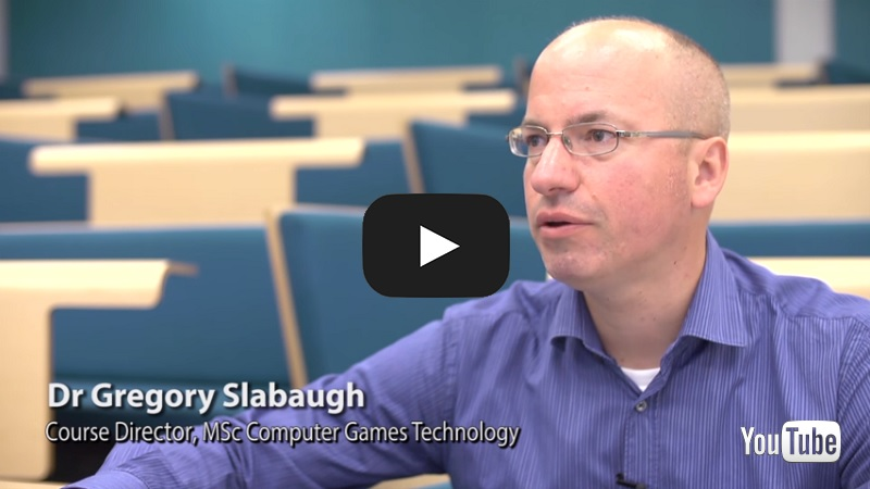 Dr. Gregory Slabaugh discusses the MSc in Computer Games Technology