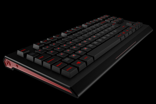 Archtor Cam keyboard, red and black