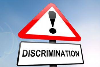 Discrimination warning sign