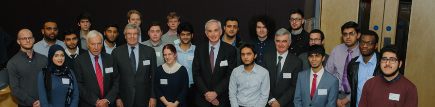 George Daniels scholars with members of the GD Education Trust
