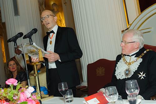 President Sir Paul Curran speaking at the Rectors Dinner 2017