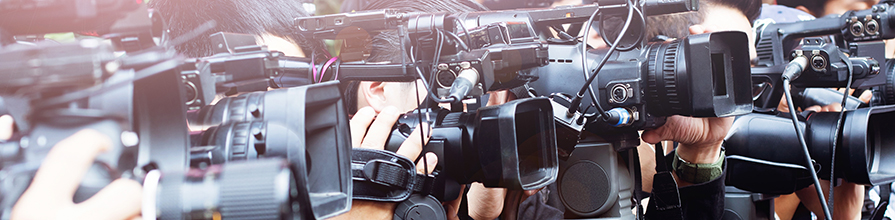 Media cameras and photographers