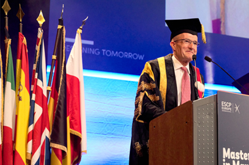 Professor Sir Paul Curran received an honour from Grand École ESCP Europe