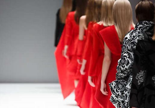 Women in red dresses