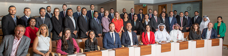 Tweltfh cohort for the Cass EMBA in Dubai