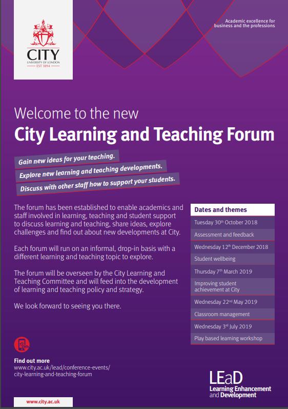 Educational Technology Workshops | City, University of London
