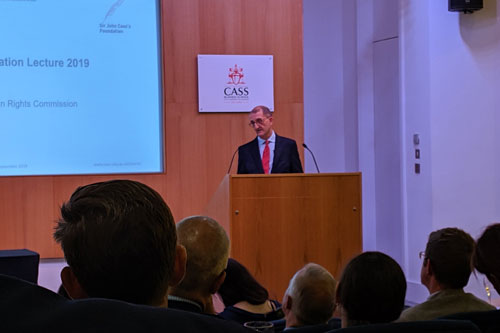 David Isaac CBE delivers 2019 Sir John Cass Foundation Lecture