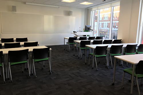 View of the lecture room