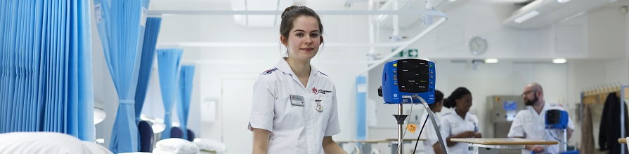 Image of student nurses at City's Clinical Skills Suite