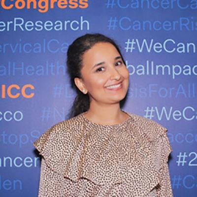 Amira El-Houderi smiling