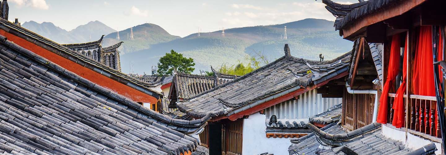 Tiled roofs in Lijiang Yunnan, China