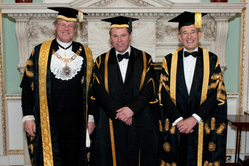 President Sir Paul Curran and guests at the Chancellor's Dinner 2012
