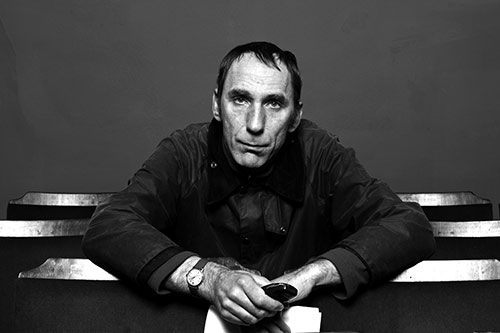 Portrait of William Self taken by Valerie Bennett in monochrome, 2010
