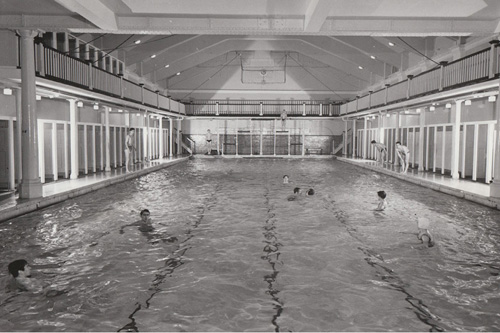 The pool as it was for the 1908 Olympic Games