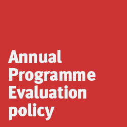 annual programme evaluation policy