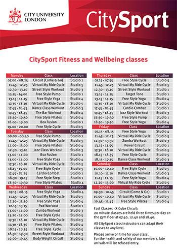 anu sport fitness timetable pdf