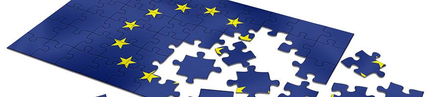 Puzzle of the EU flag