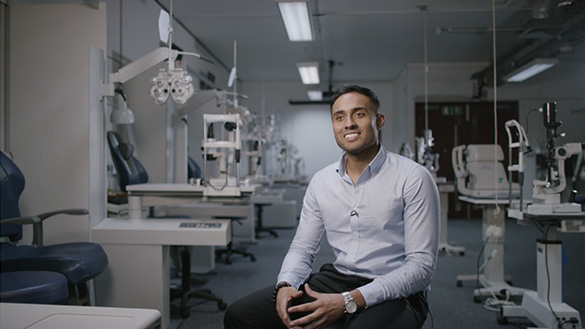 Current student Dhruvin Patel
