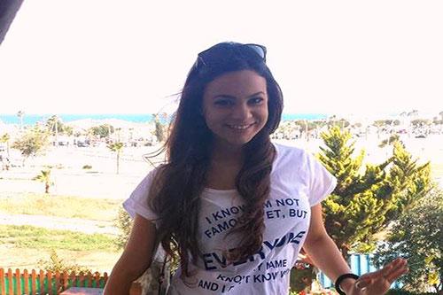 City student Elpida smiling