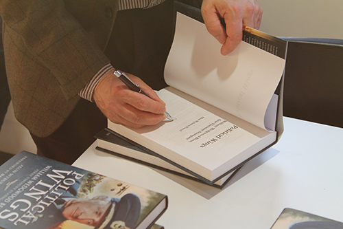 Book signing of Political Wings, written by Dr Alun Wyburn-Powell