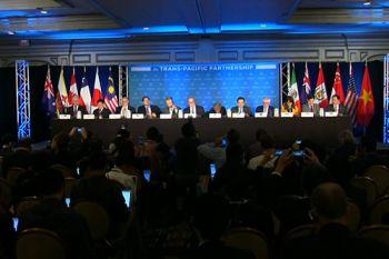 Delegates completing the TPP deal