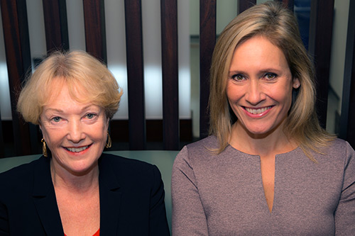 Professor Lis Howell and Sophie Raworth