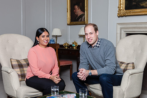 Journalism student Sophia Kichou has interview Prince William for the Big Issue.