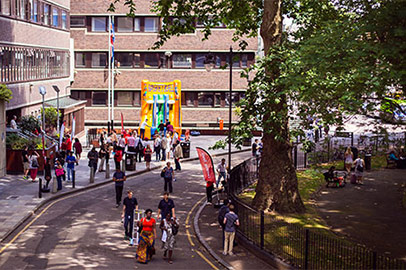 Prospective students at a City undergraduate open day