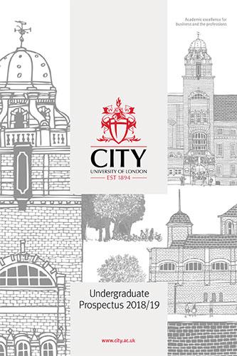 Undergraduate Prospectus cover for 2018/19 academic year