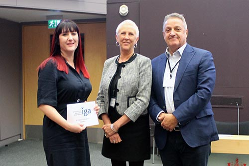 Tamsin Callaghan of City receives IGA award