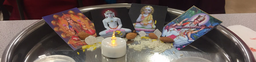 Jain worship tray