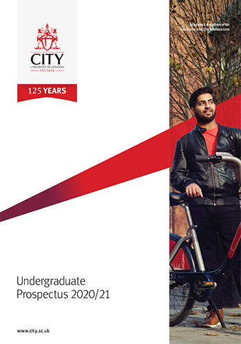Undergraduate Prospectus cover for 2020/21 academic year