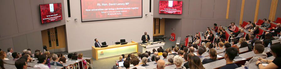 David Lammy MP, speaking at City, University of London