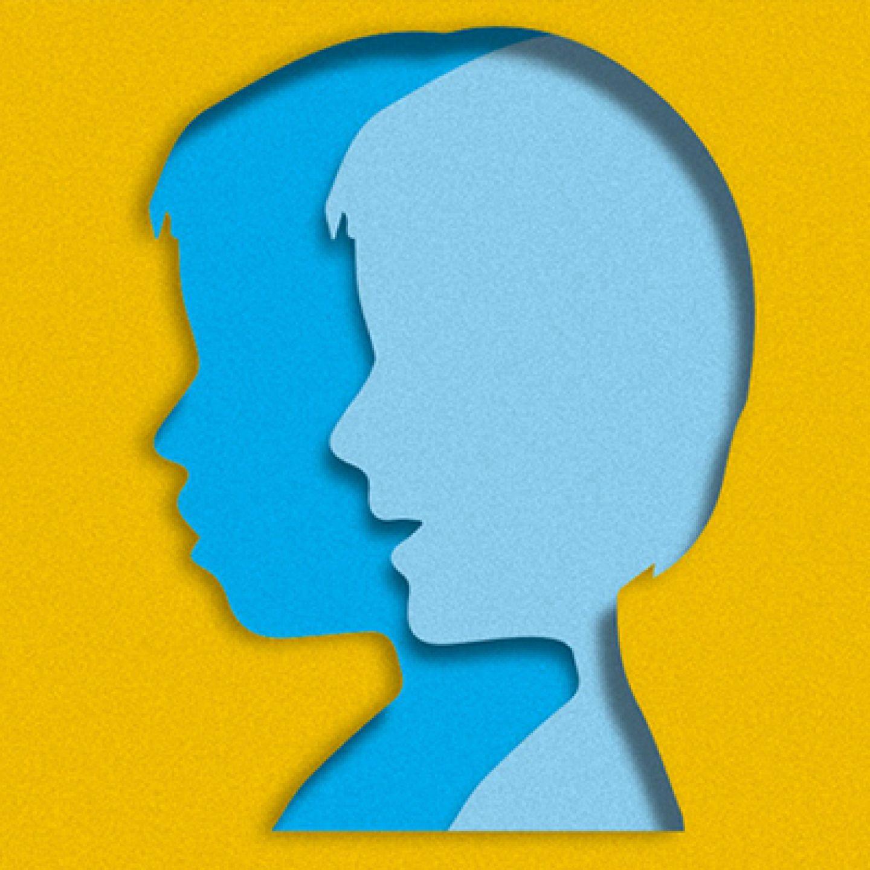 Illustration of child head silhouette