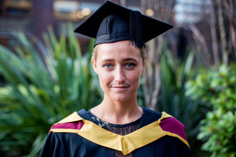 Michelle Fredman (MA International Journalism 2020) at graduation.