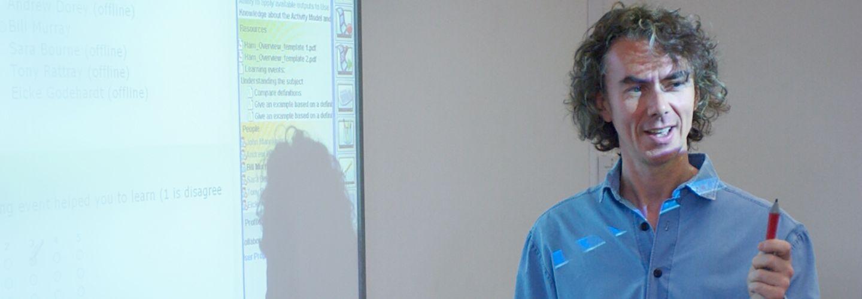 Neil Maiden giving a presentation