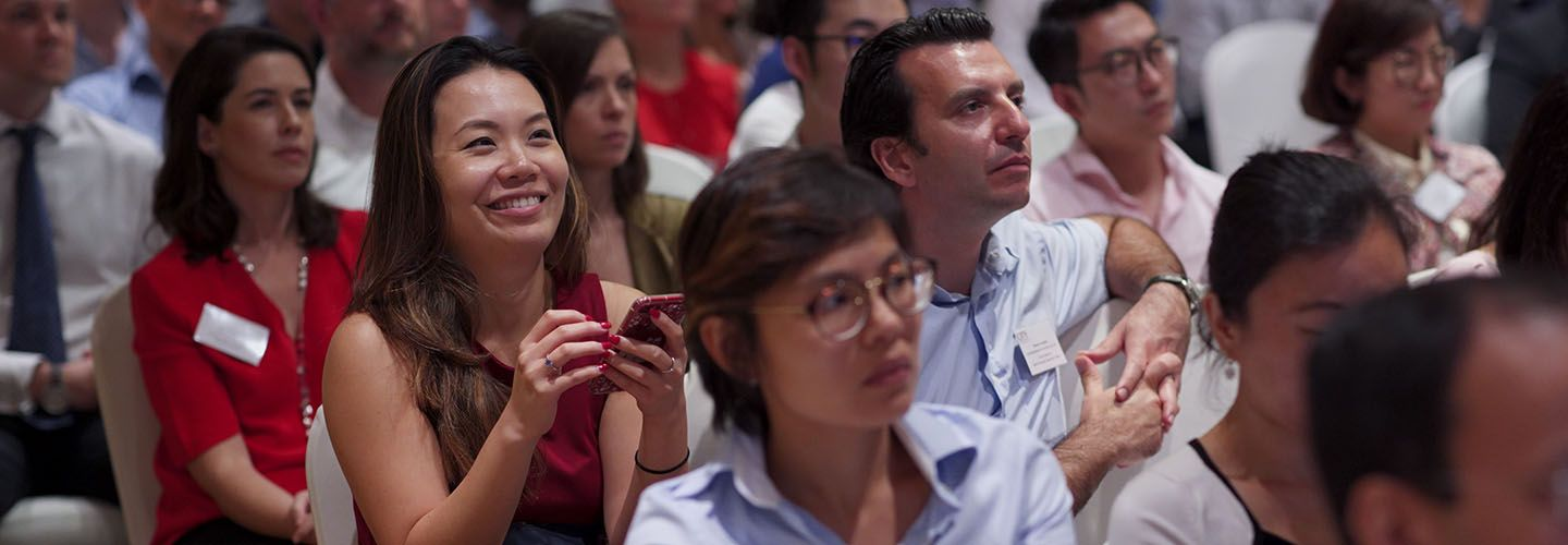 Alumni of The Business School attend an event in Singapore