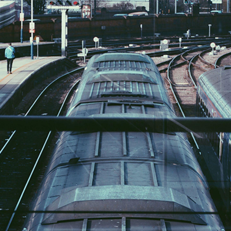 Train on network railway