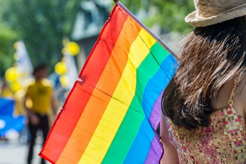 Rainbow Flag at event